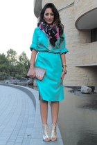 Zara boots - Haute Heritage dress - Bimbo y Lola purse