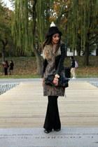 black H&M hat - black H&M jacket - black foley & corinna bag