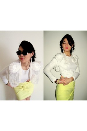 Zara blouse - Mango sunglasses - DIY skirt - DIY accessories