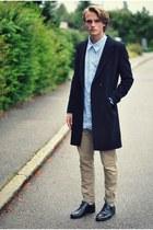 brothers coat - Din Sko shoes - Springfield shirt - Blck pants