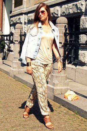 snake print H&M pants