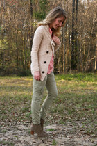 nude Element sweater - light brown DV Dolce Vita boots - olive green Gap pants