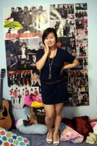 Gap dress - custom made accessories - hollister belt - Charlotte Russe shoes
