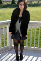 black H&M shoes - gray Forever21 dress - silver Forever21 sweater - black Foreve