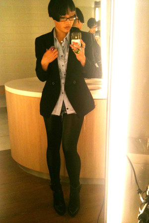 Black Milk leggings - Charles and Keith boots - Anne Klein jacket
