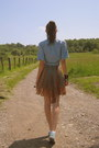 Light-blue-fair-lady-denim-shirt-unknown-dress-light-blue-converse-sneakers