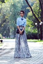 navy Olga Skazkina skirt - sky blue Mango shirt
