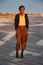 vintage pants - Dolce Vita boots - Evan Picone blazer - asos blouse