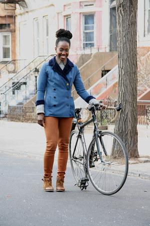 H&M pants - Boutique 9 boots - J Crew sweater