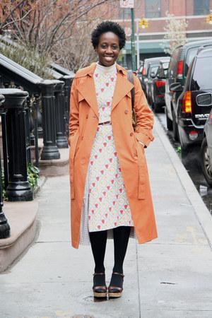vintage dress - J Crew shoes - vintage from Ebay coat