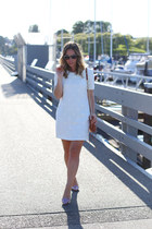 white mini dress Darling dress - tawny Rebecca Minkoff bag