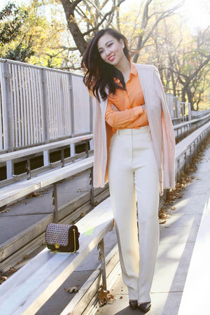 Joe Fresh blouse - Chloe pants - Zara heels