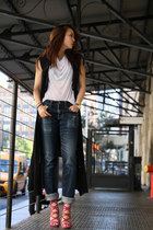 JYJZ vest - AG jeans - Helmut Lang top - Jimmy Choo heels
