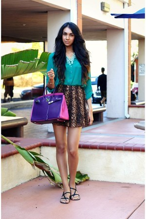 light brown Bik Bok skirt - green Michel Fashion shirt