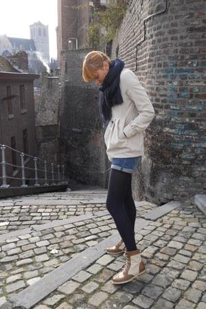 Primark boots - Lanvin H&M scarf - H&M shorts - Mlle B blouse