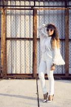 asoscom bracelet - salsacom jeans - asoscom sunglasses - Zara blouse