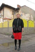skirt - George Enache blazer - purse - shoes