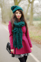 asos coat - prima moda shoes - Topshop hat - Topshop scarf - H&M skirt