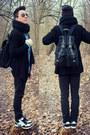 Sky-blue-denim-smog-shirt-black-inscene-scarf-black-asos-bag