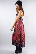Printed Midi Vintage Skirts
