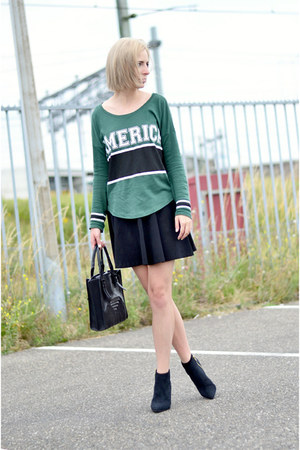 Nelly shoes - Zara bag - h&m divided skirt - GINA TRICOT t-shirt