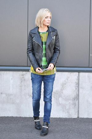 Zara boots - Zara jeans - Zara jacket - asos top
