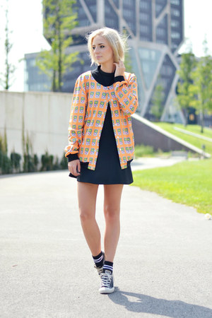 Zara dress - Mr Gugu Miss go jacket - asos socks - Converse sneakers