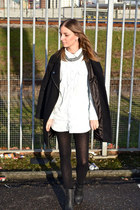 Deena & Ozzy boots - asos coat - Monki shirt
