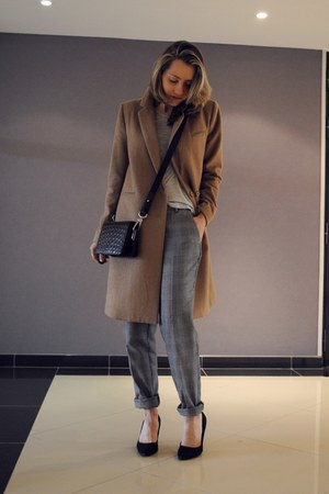 H&M coat - & other stories bag - checked Mango pants
