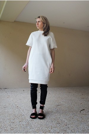 white oversized & other stories dress
