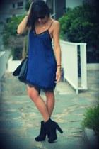 blue Stradivarius dress