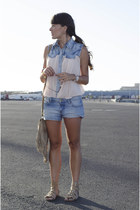 blue Forever 21 shorts - light pink Forever 21 top