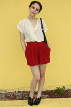 beige vintage blouse - red httpstoresebaycomTwitchVintage shorts - black Nine We