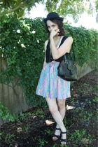 black TJ Maxx hat - pink httpstoresebaycomTwitchVintage skirt - black vintage pu