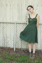 green httpstoresebaycomTwitchVintage dress - gray Target socks - beige Aldo shoe