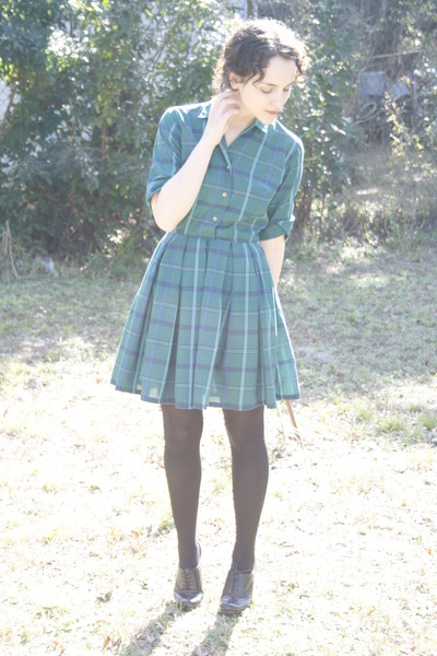 green httpstoresebaycomTwitchVintage dress - black Target tights - black Ross sh