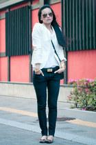 sismade bracelet - H&M shoes - Uniqlo jeans - Zara blazer - Michael Kors bag