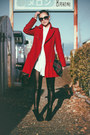Black-persunmall-boots-ruby-red-burberry-blue-label-coat