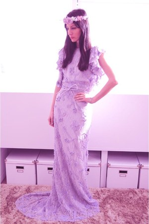 light purple Boüret dress - light purple Boüret accessories
