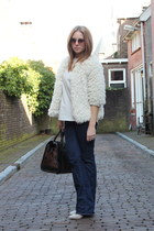 Zara cardigan - H&M jeans - Zara heels