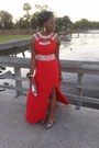 Red-idreamprom-dress-heather-gray-silver-payless-bag