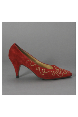 red Norma Kamali shoes