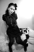 black blouse - black Zara skirt - black Zara belt - black accessories - black Za