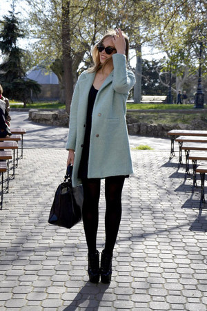 Sheinside coat - Zara dress - Zara bag - Ebay sunglasses - Ebay heels