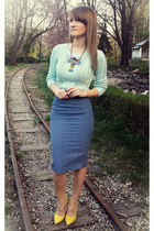 Vera neumann skirt - Stradivarius sweater - poema heels