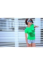 Fornarina shorts - fluo sunglasses sunglasses - bandana accessories - cocaine vi