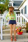 Jcrew-cardigan-vintage-shorts-vintage-hat-h-m-blouse-jcrew-belt-michea