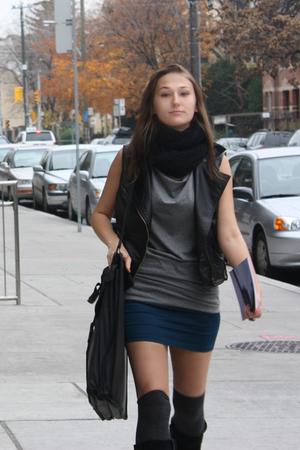 Urban Outfitters vest - Casa Blanca skirt - Target socks