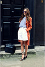 Carrot-orange-duster-coat-miss-selfridge-coat-black-daniel-footwear-bag