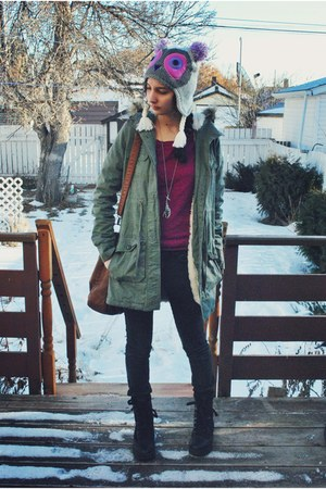 the childrens place hat - blue notes coat - Aldo bag